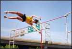 pole vaulting over the overpass