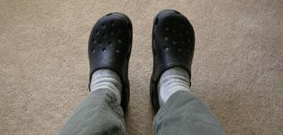 Crocs! The latest rage in footwear