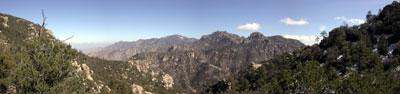 Panaramic of the Catalina Mtns.