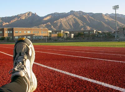on the track at Catalina Foothils